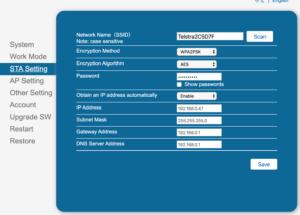 WIFI Network Password